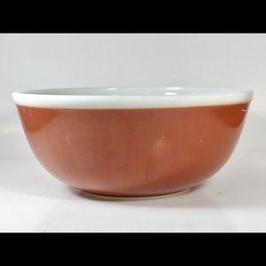 Vintage Pyrex 4 qt. Chocolate Brown Mixing Bowl